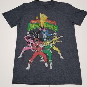 Mighty Morphin Power Rangers Gray Tee